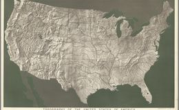 E84 - Topography of the United States of America.