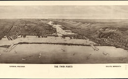 E66 - The Twin Ports Superior Wisconsin Duluth Minnesota - Henry Wellge - 1915