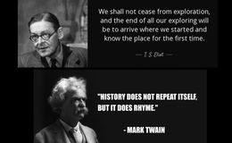E163 - Twain and Eliot quotes