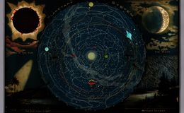 E84 - backlit Planetary System Eclipse of the Sun The Moon The Zodiacal Light Meteoric Shower