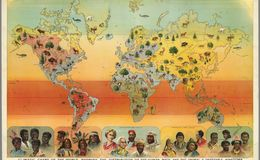 E84 - Climatic Chart of the World, Showing the Distribution of the Human Race and the Animal and Vegetable Kingdoms